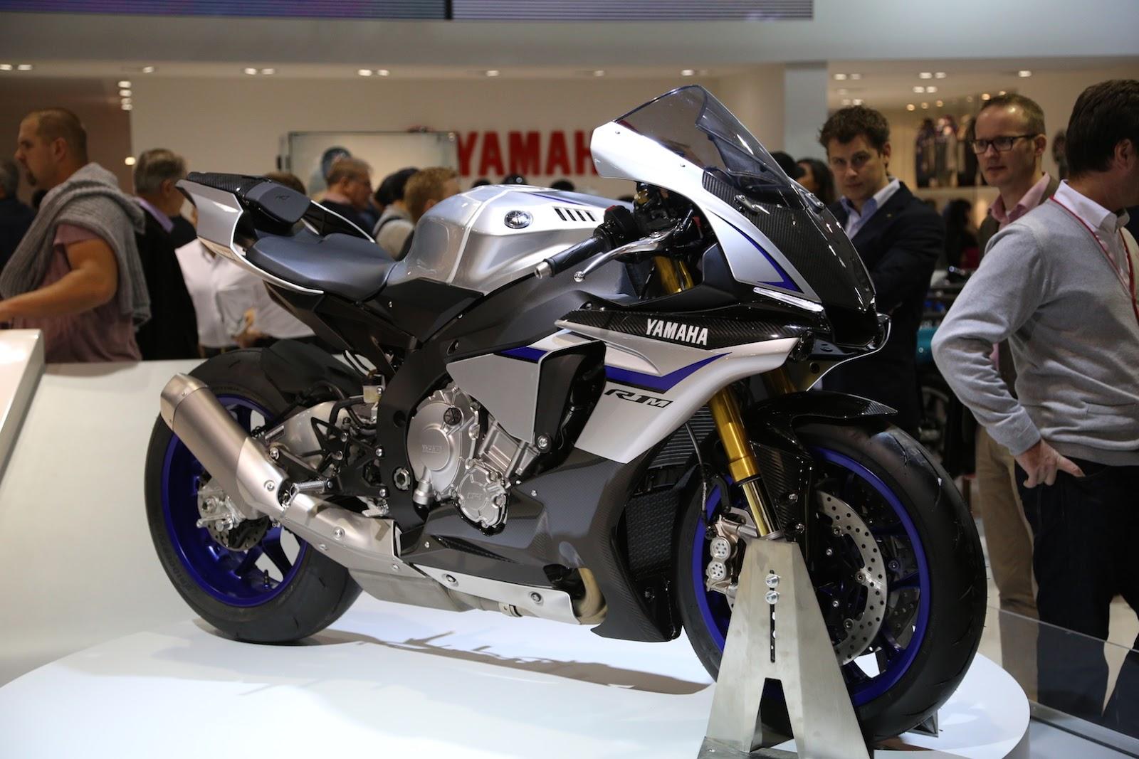 雅马哈yzf-r1m,r1赛道款超跑摩托!