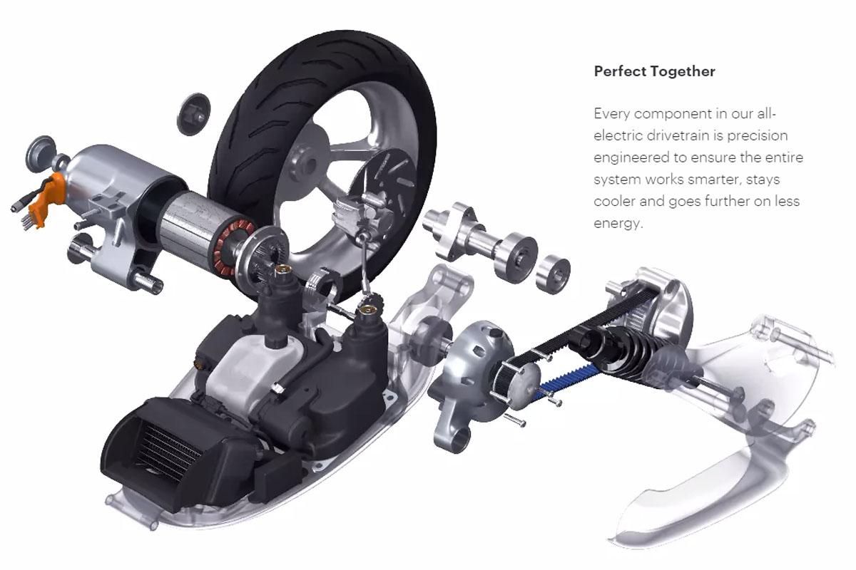 智能电动踏板摩托车
